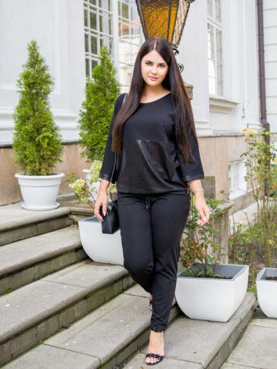 Czarne spodnie dresowe Anette