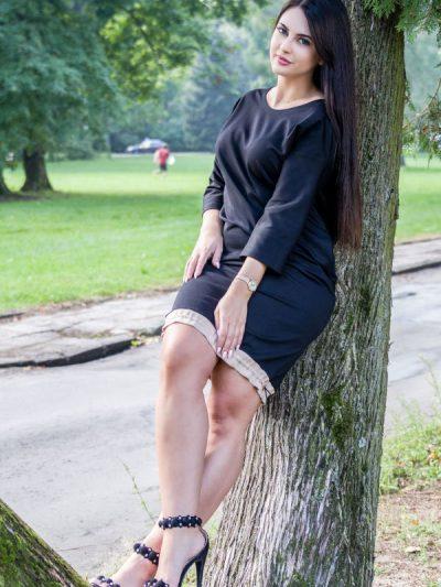 sukienka Anette z troczekiem