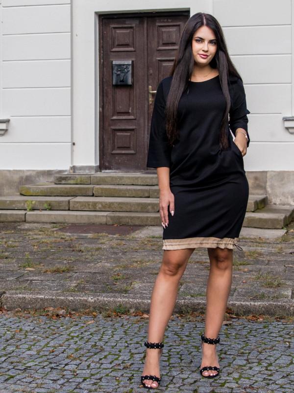 sukienka Anette z troczkiem